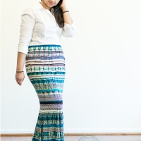 Stripey Mermaid Maxi