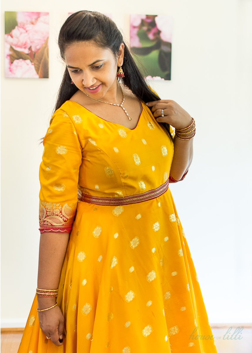 Dancing Yellow Anarkali